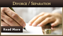 Family law attorney services divorce and separation.